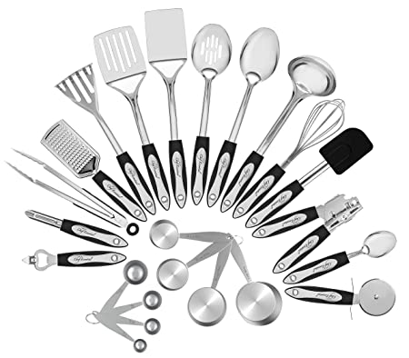 Chef Essential's Stainless Steel Kitchen Utensil 23-Piece S