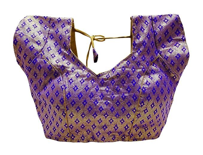 PEEGLI Blusa Sari De Diseño De Mujer Blusa De Brocado Desgaste De La Boda Choli Blusas