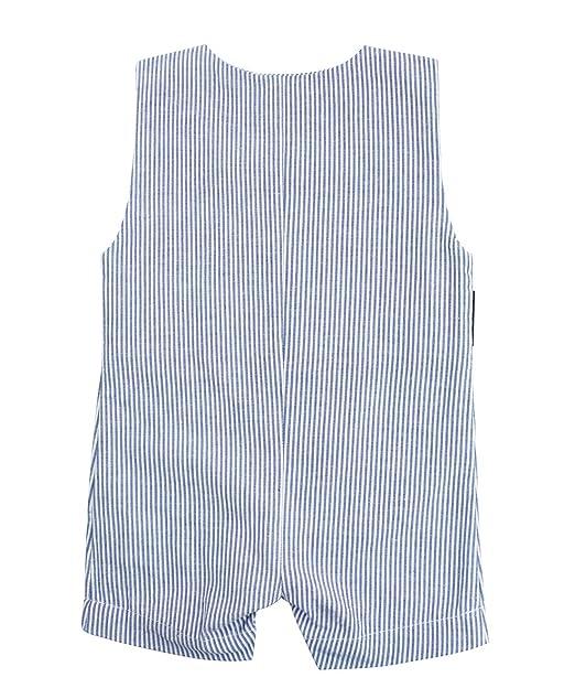 4c70c8362adc Amazon.com  RuggedButts Baby Toddler Boys Jon Jon Romper One-Piece Overall  Shortall  Clothing