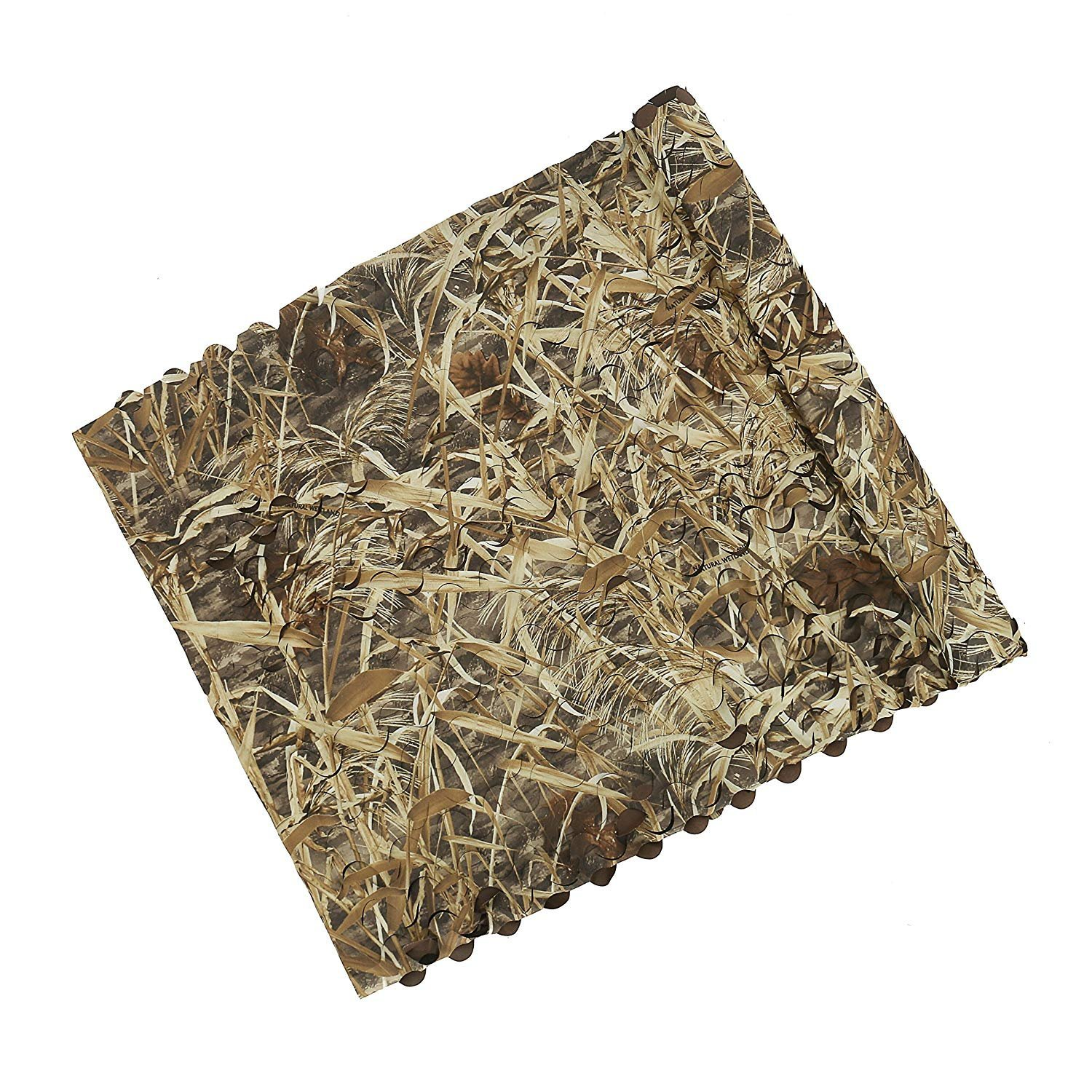 Auscamotek Duck Blind Material Camo Netting for Bird Hunting Boat Cover Camoflage Nets Dry Grass Pattern 5ft×20ft by Auscamotek