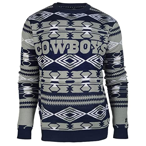 competitive price 976a3 5161c NFL Football 2015 Aztec Ugly Crew Neck Holiday Sweater - Pick Team (Dallas  Cowboys, Medium)