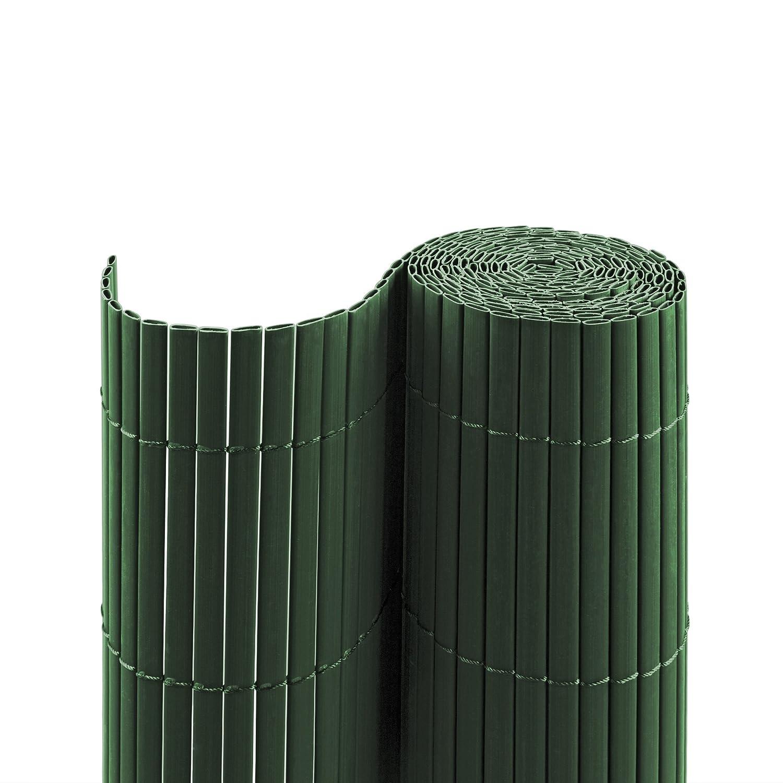 Jarolift Canniccio PVC recinzione paravista per giardino, balcone e terrazza, 200 x 500 cm, verde   simile a RAL 6005