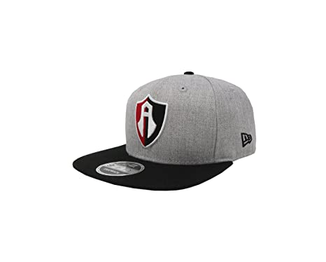 New Era 9Fifty Hat Guadalajara Atlas F.C. Soccer Club Liga MX Retro Gray Snapback