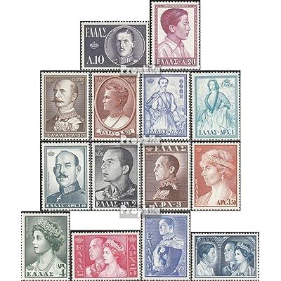 Grèce 637-650 (complète.Edition.) 1956 grecque reines & rois (Timbres pour les collectionneurs)