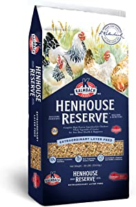 K Kalmbach Feeds Since 1963 Henhouse Reserve 17% Whole Grain Complete Layer Feed for Hens