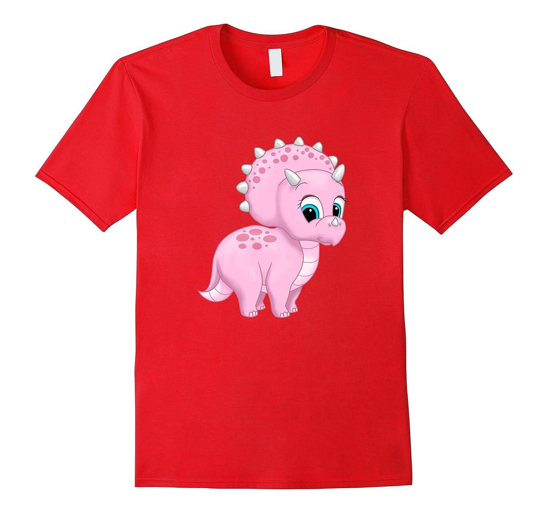 Cute Dinosaur Pink Baby Triceratops-RT