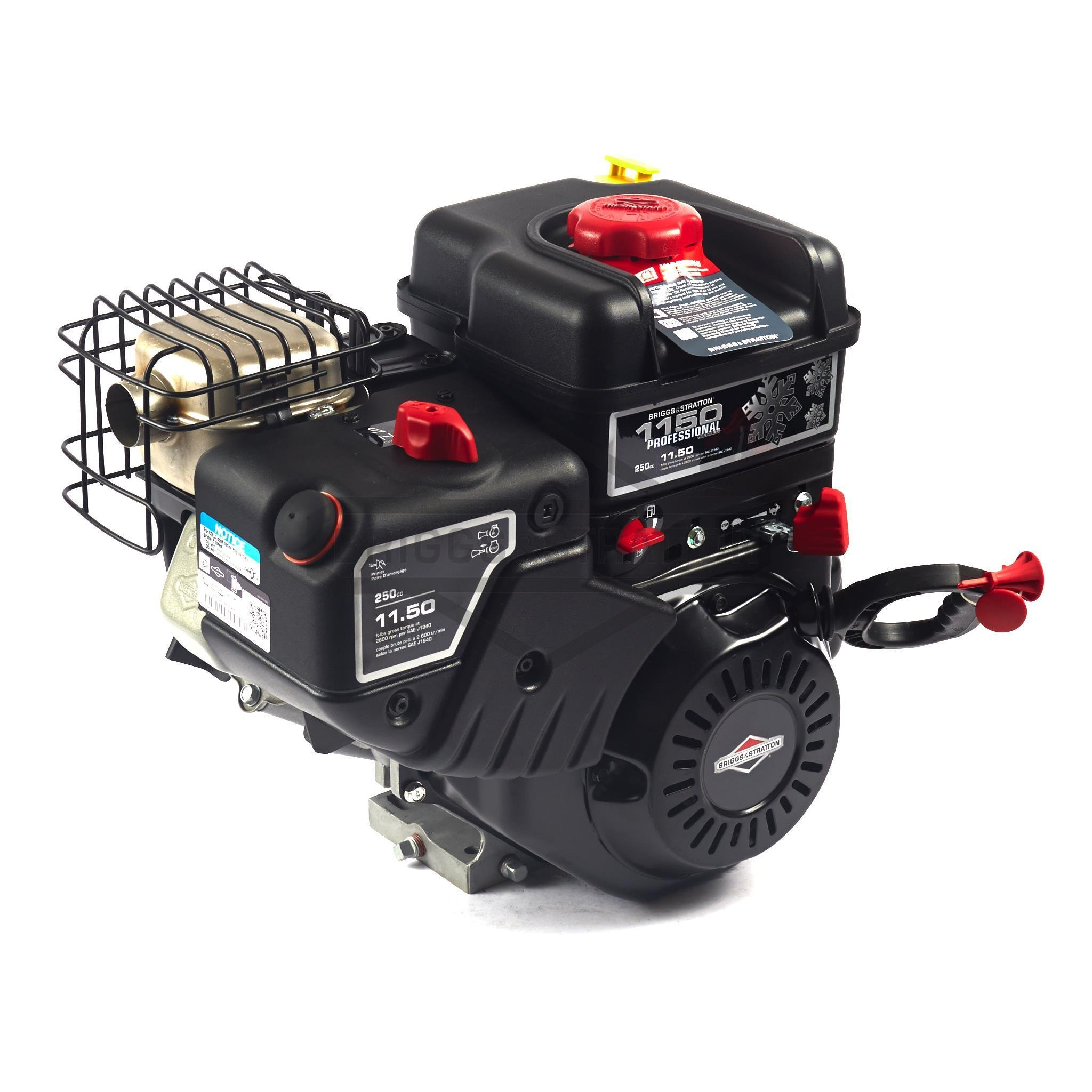 Briggs and Stratton 15C134-3023-F8 Snow Series Max 250cc 11.50 Gross Torque Engine with 1-Inch Diameter by 2-3/4-Inch Crankshaft