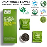 Onlyleaf Organic Green Tea, 27 Tea Bags with 2 Free Exotic Samples