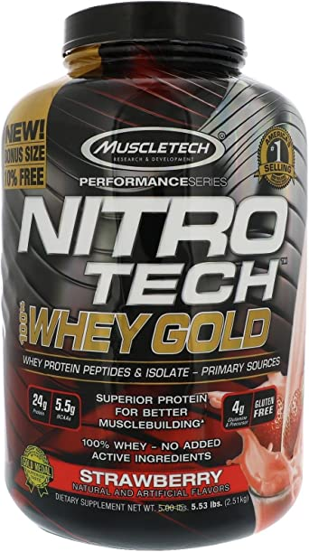 Muscletech Nitro Tech Whey Gold - 2,5 kg Fresa