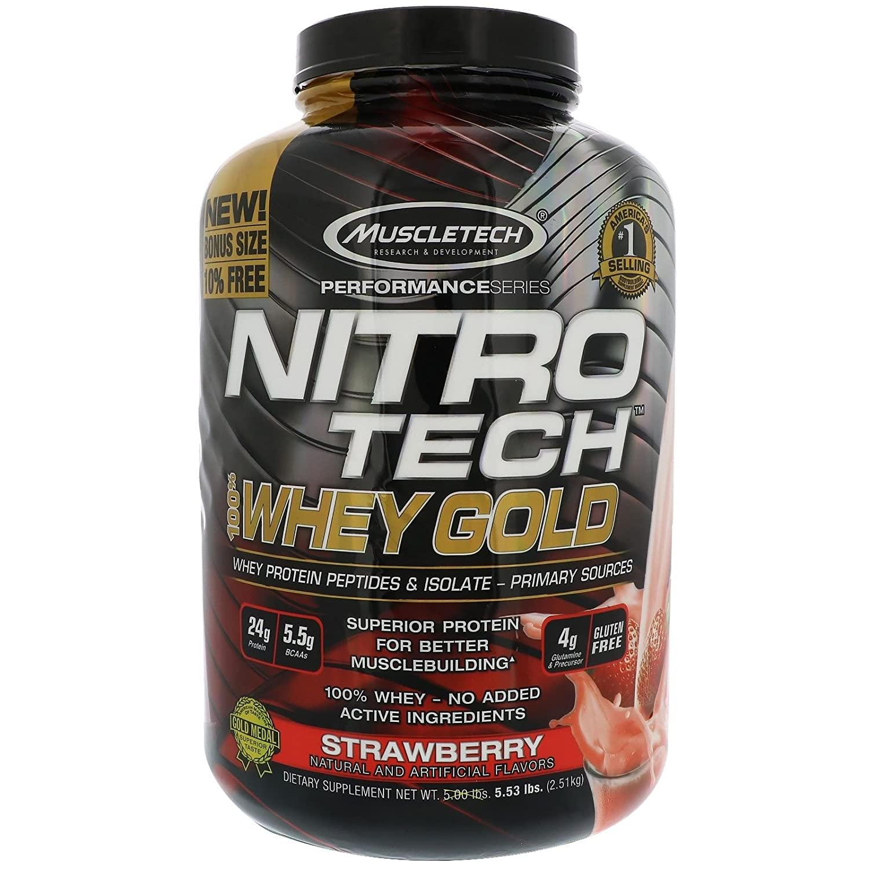 Muscletech Nitro-Tech Whey Gold - 2,5 kg Dulce Leche: Amazon.es: Alimentación y bebidas