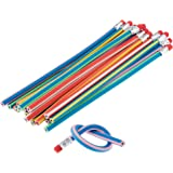 20 Pack of Soft Magic Bendy Pencils Childrens School Stationary Equipment Party