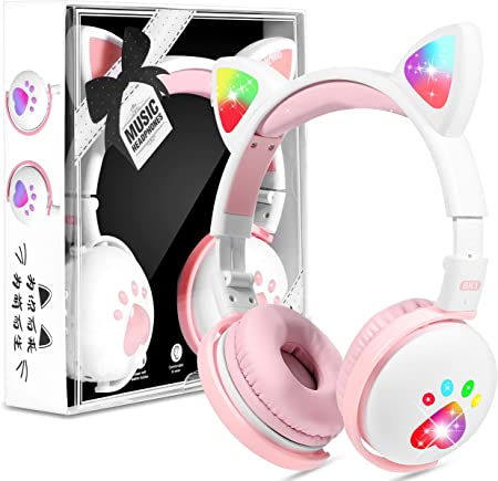 Kinderkopfhörer Bluetooth Mädchen Katzenohr Kopfhörer Elektronik