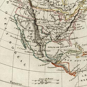 Amazon.com: North America old map Jefferson Columbia 1834 United ...