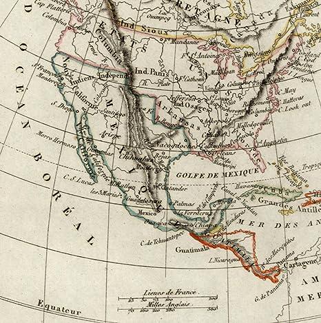 Amazon Com North America Old Map Jefferson Columbia 1834 United
