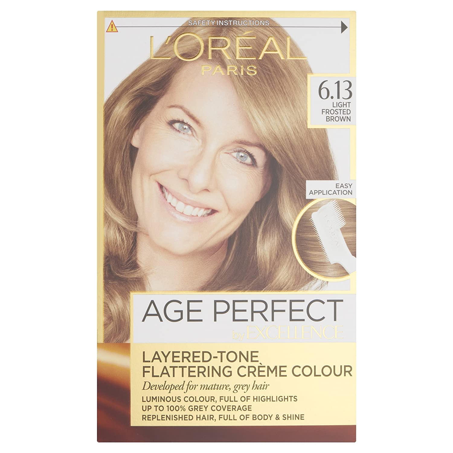 Loreal Excellence Age Perfect 613 Light Frosted Brown Hair Dye
