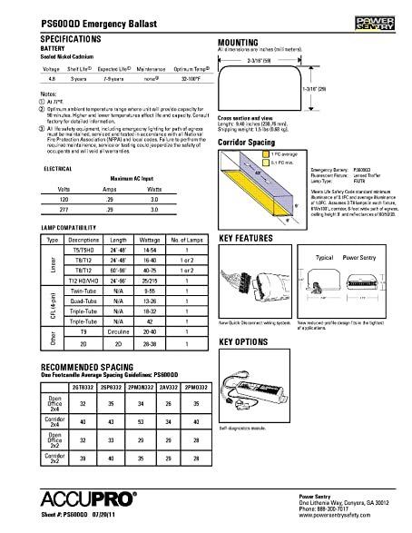 81BPeOb6FlL._SY587_ power sentry emergency ballast wiring diagram wiring diagrams T8 Ballast Wiring Diagram at gsmx.co