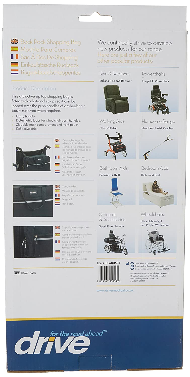 Amazon.com: Drive Medical Waterproof Wheelchair Backpack Shopping Bag: Health & Personal Care