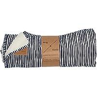 MOG & BONE Plush Blanket Blue Stripe Print
