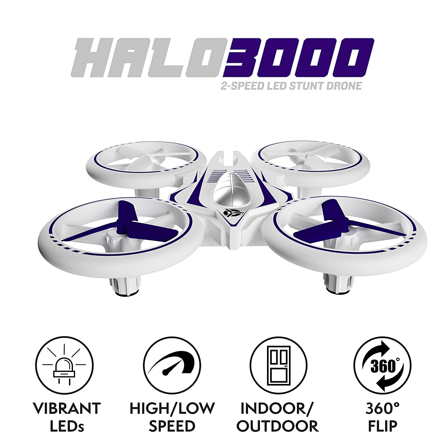 Halo Quadcopter Drone for Kids