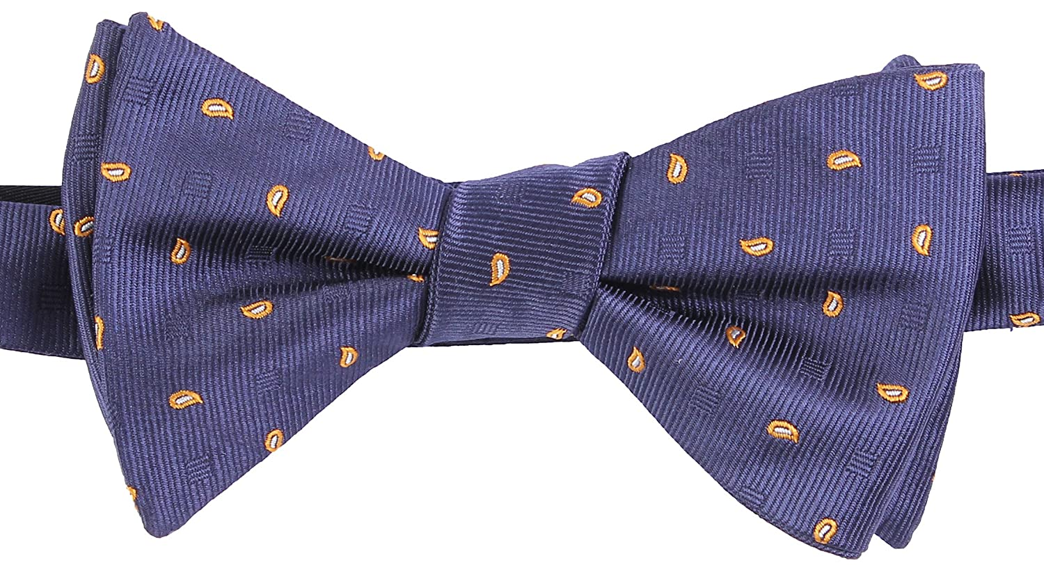 Flora/&Fred Mens Handmade Jacquard Woven Self-Tie Bow Tie