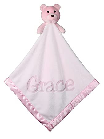 Amazon large ultra plush personalized teddy bear baby blanket large ultra plush personalized teddy bear baby blanket gifts 40x40 inch pink negle Image collections