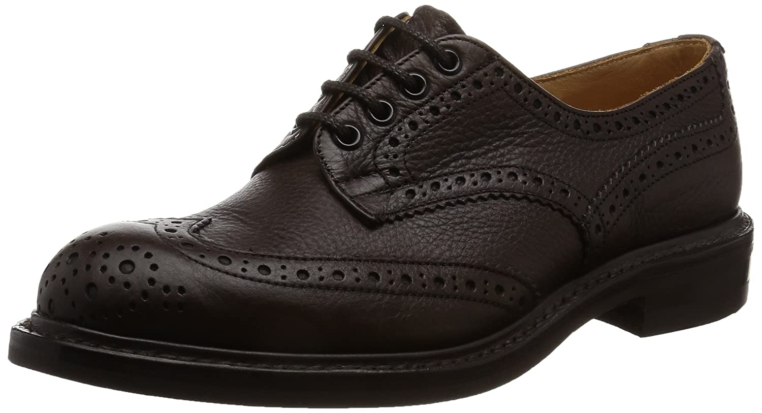 [トリッカーズ] Tricker's Full Brogue Derby Shoe - Olivvia Calf/Dainite Sole Keswick M7292-20 B01N7P2UJO  ダークブラウン 25.5 cm