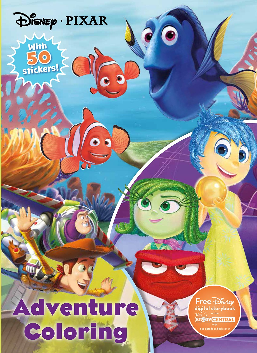 Disney Pixar Adventure Coloring Jumbo Coloring With 50