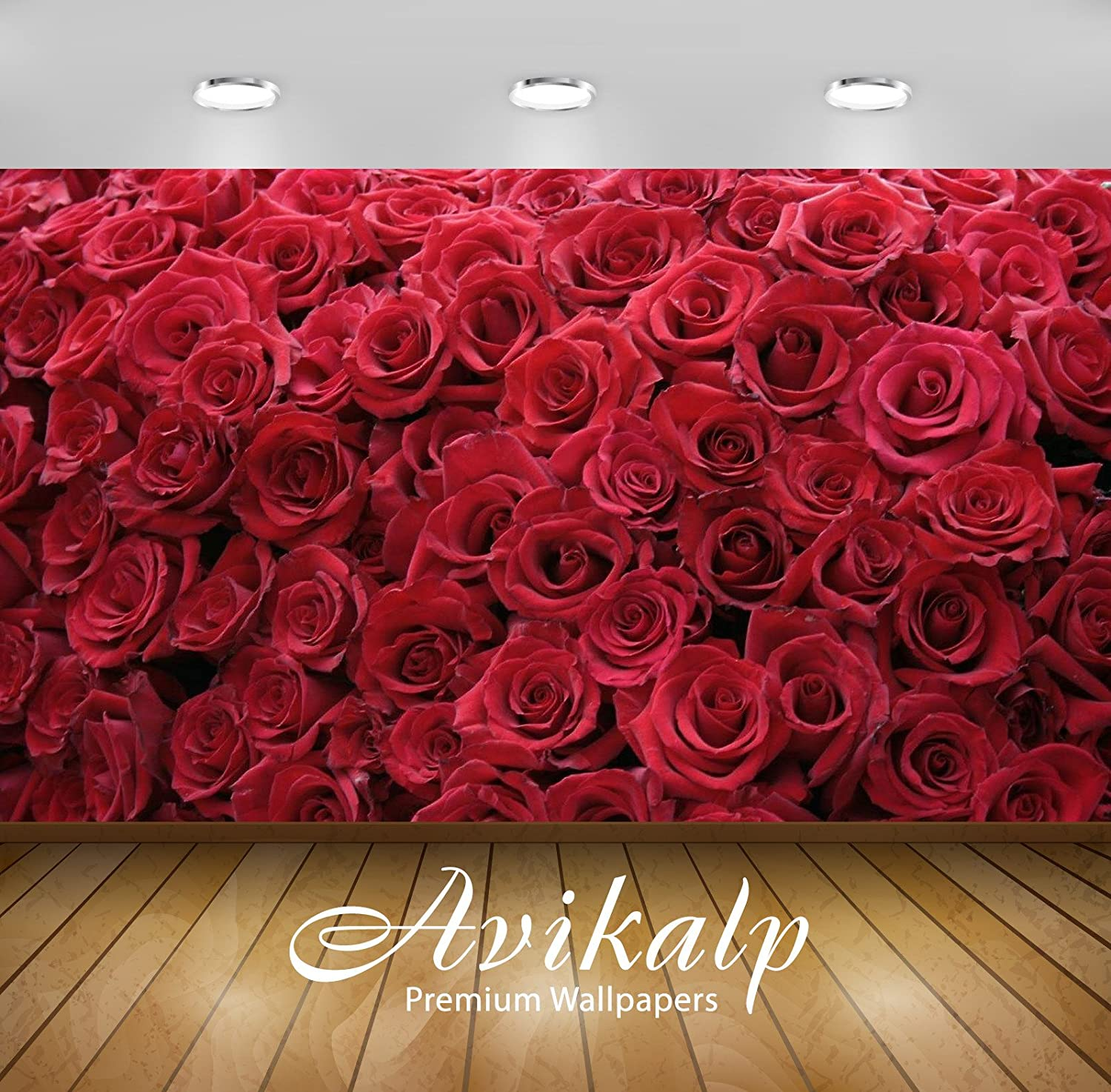 Buy Avikalp Exclusive Awi3268 Red Roses Flowers Full Hd Wallpapers 4 X 3 Ft Online At Low Prices In India Amazon In