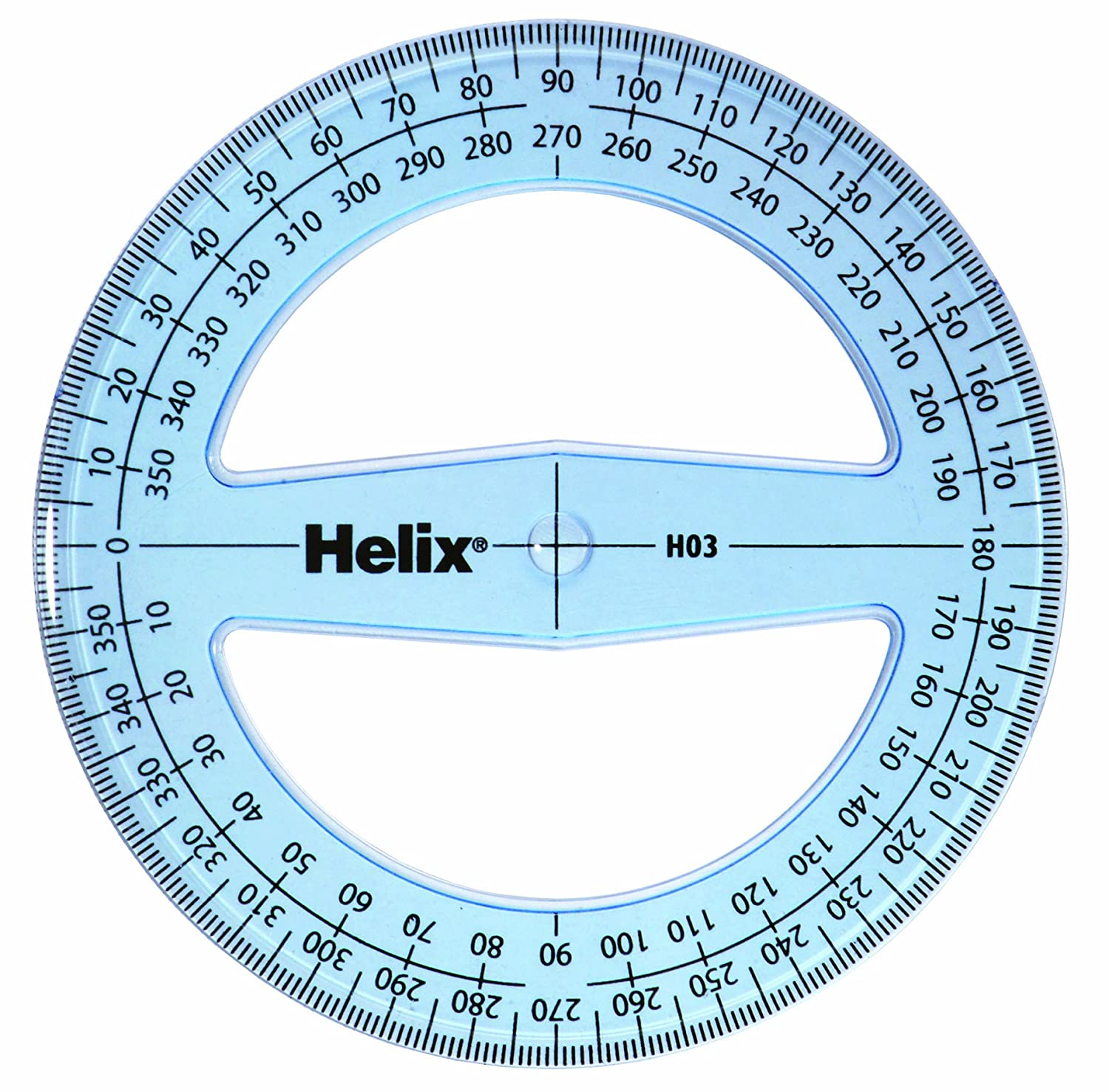 worksheet Protractor Image helix 10cm 360 degree protractor pack of 50 h03040 amazon co uk office products