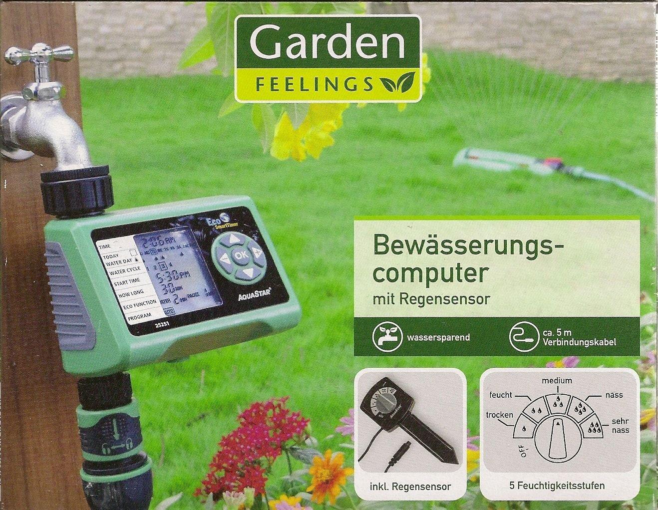garden feelings irrigazione computer con sensore di pioggia nuovo nella confezione originale ebay. Black Bedroom Furniture Sets. Home Design Ideas