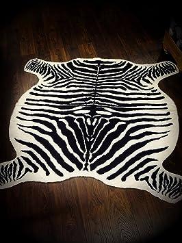 Ikea Tapis Zebre Imitation Fourrure Creme Marron 120 X 140 Cm