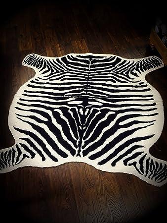 Ikea Teppich Zebra Kunstfell 120 X 140 Cm Creme Braun Amazon De