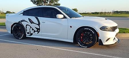 Front Chin splitter /& 2 support rods /& 2 winglets for 2015-2018 Charger SRT 392s Scat Packs Daytonas Hellcats