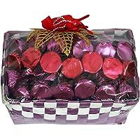 Skylofts Purple Chocolates Basket with 20Pc Assorted Chocolate - Multi Color, 180 g;Chocolates, Candies & Gum;Sweets & Chocolate Gifts;Chocolate Gifts [Alias];;;;
