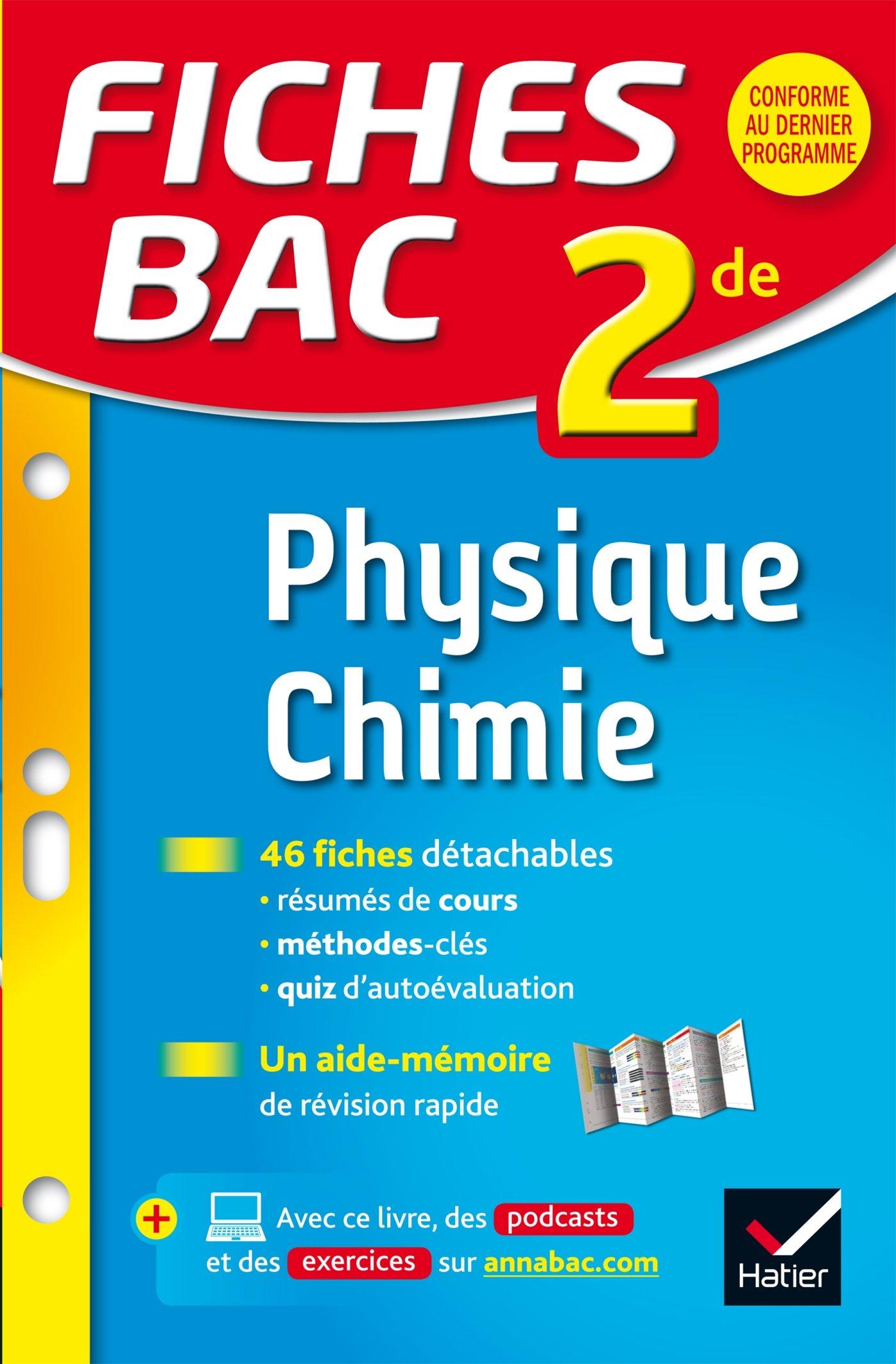 Fiches Bac Physique Chimie 2de Fiches De Revision Seconde