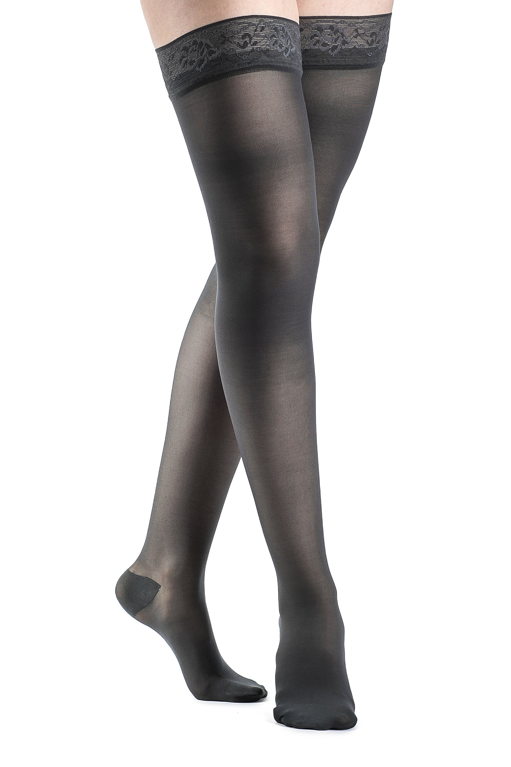 SIGVARIS Women's EVERSHEER 780 Closed Toe Thigh High w/Grip-Top 15-20mmHg