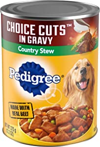 PEDIGREE CHOICE CUTS in Gravy Adult Canned Wet Dog Food Country Stew, (12) 13.2 oz. Cans
