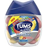 Tums Chewy Bites Antacid with Gas Relief, Lemon and Strawberry flavor, fast relief from gas and heartburn - 28 Chewable…