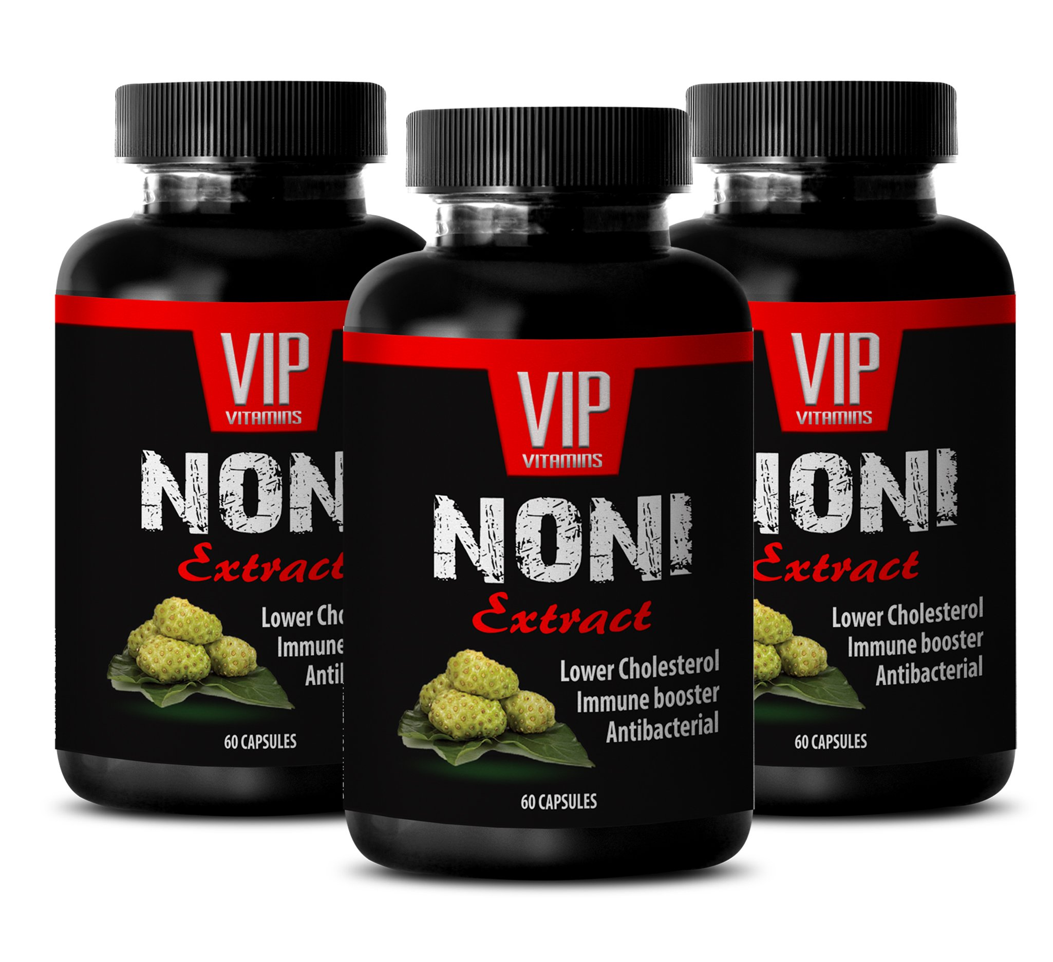 VIP VITAMINS Indian mulberry - NONI EXTRACT - Anti weight - 3 Bottles 180 Capsules