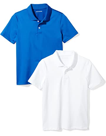 3c15a9eee Amazon Essentials Boys' 2-Pack Performance Polo