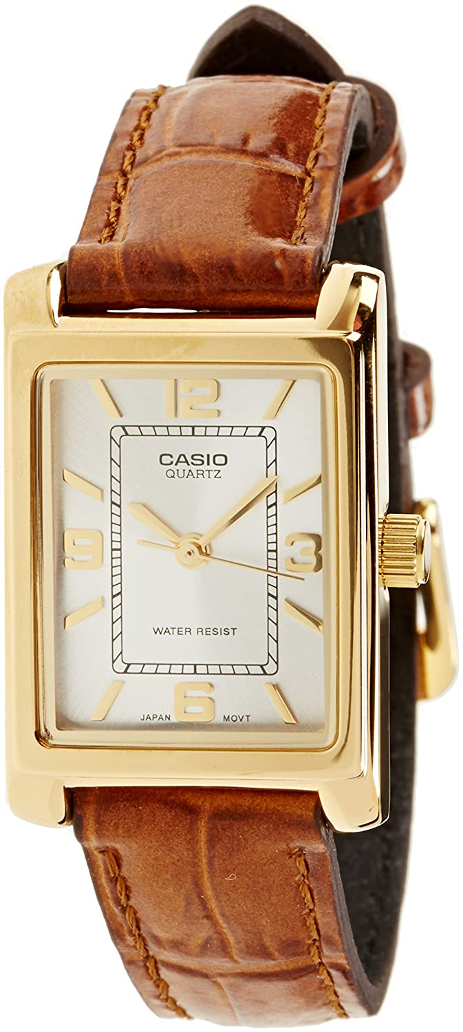 656f930c209f Casio Women s Analogue Quartz Watch with Leather Strap LTP-1234PGL-7A   Amazon.co.uk  Watches