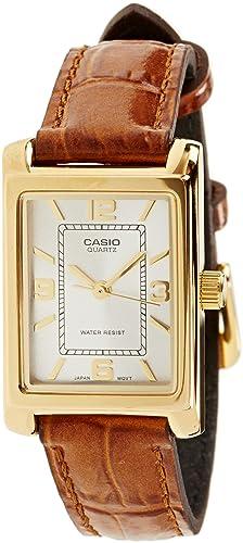 Casio Montre Femme Analogique Quartz avec Bracelet en Cuir – LTP-1234PGL-7A 0c9c56594caa