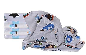 Igel aqua-Bigstar blue Clevere Kids Mullt/ücher Fuchs /& Igel mit Sternen Set 6 St/ück Mullwindeln /Öko-Tex