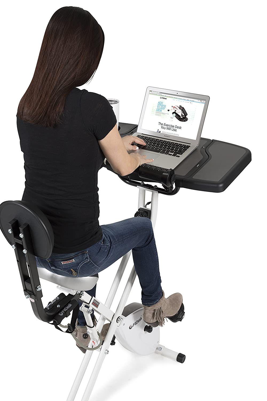 FitDesk® Bicicleta de ejercicios con escritorio + Extensión del escritorio: Amazon.es: Deportes y aire libre