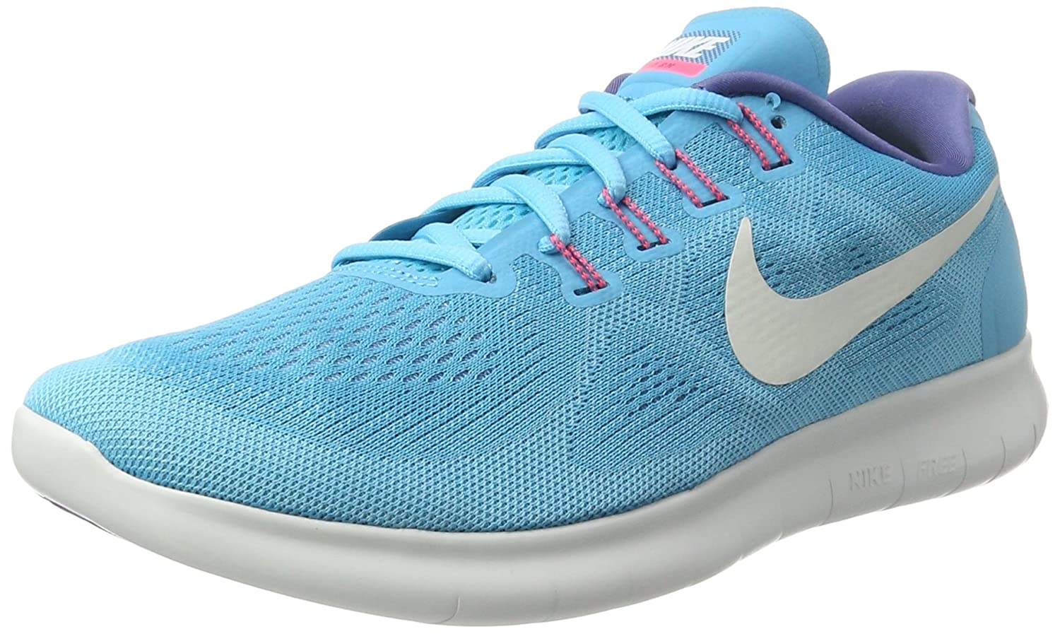 NIKE Women's Free RN 2017 Running Shoe B01K0NQFGY 8.5 B(M) US|Chlorine Blue/Off White/Polarized Blue