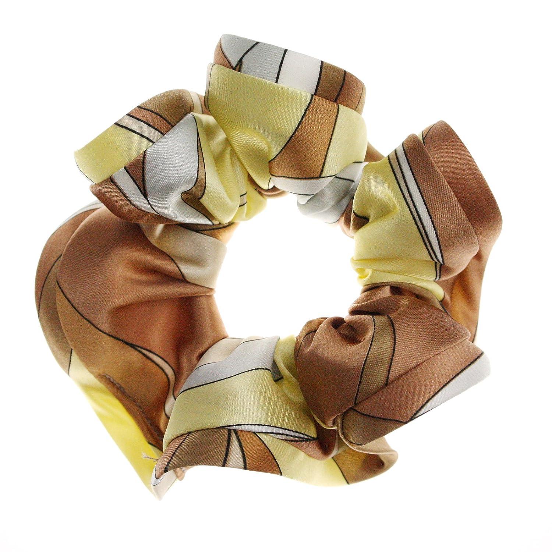 KOBE VINGTAINE スカーフ柄シュシュ。スカーフ風のプッチ柄が人気。