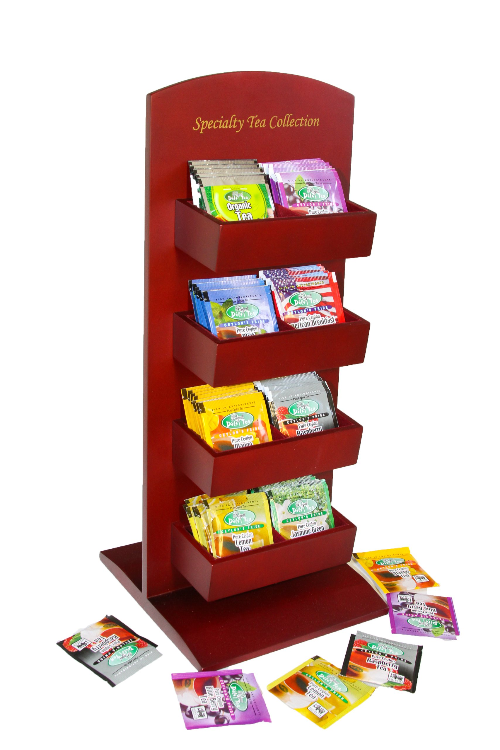 Dil's Royal Tea Cherry Wood Stand Variety Pack, 80-Count