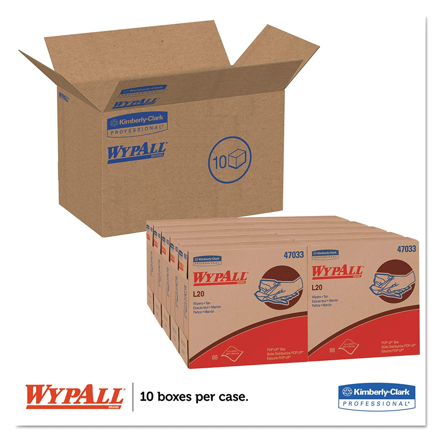 Amazon.com: WypAll 47033 L20 Towels, POP-UP Box, 2-Ply, 9 1 ...