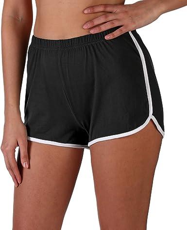 INDERO Women's Ultra Soft Lightweight Dolphin Shorts Active Yoga Gym Running Workout Summer Short Pants (S/M, L/XL)