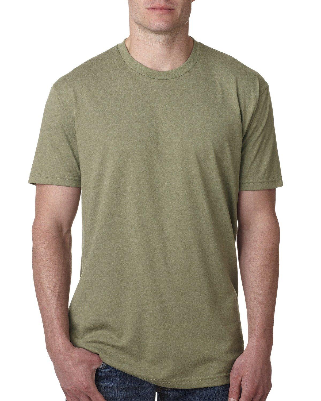 Next Level Apparel メンズ CVC クルーネック ジャージ Tシャツ B014WDAW58 M|ライトオリーブ ライトオリーブ M